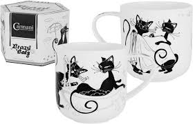 <b>Кружка</b> Carmani <b>Crazy Cats</b>, CAR2-017-2013, 500 мл Костяной ...