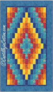 Lap Quilt Patterns Magnificent Diamond Lap Quilt Pattern CJC48 Advanced Beginner Lap And Throw