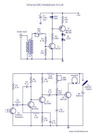 ir headset circuit headphone transmitter and receiver diagram infrared ir headphone circuit