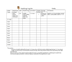 First Foods To Feed Baby Chart 50 Printable Baby Feeding Charts Newborn Feeding Schedule