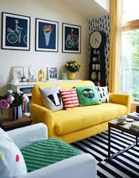 Small Living Room Design Tips Yellow Sofa For Small Living Room Design With Cheerful Color