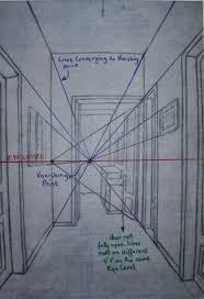 open door drawing perspective. A2 96g/m² Cartridge Paper - Parallel Perspective An Interior View. Graphite Pencil Open Door Drawing