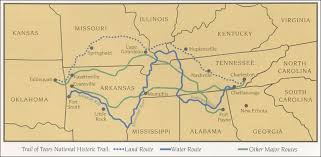 trail of tears for kids trail of tears map by the national park service click to view larger map