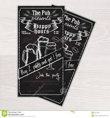 vector chalkboard printable flyer invitation to the pub vector chalkboard printable flyer invitation to the pub beer mug and glasses on wooden