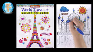 Small Picture Design Originals World Traveler Adult Coloring Book Taj Mahal