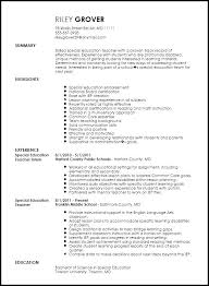 Collection Of Solutions Special Education Teacher Resume Cute