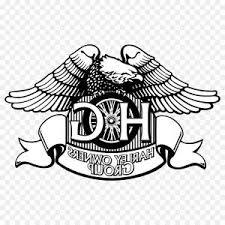 Top Harley Davidson And Rider Black White Illustration Vector Cdr