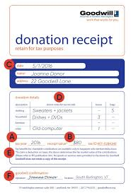 Printable Reciepts Extraordinary How To Fill Out A Goodwill Donation Tax Receipt Goodwill NNE