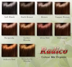 Radico Hair Color Chart