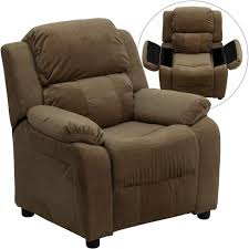 microfiber club chair recliner. flash furniture deluxe heavily padded contemporary microfiber kids recliner with storage arms club chair e