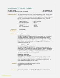 Security Guard Resume Template 2019 Resume Templates