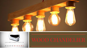 chandelier with reclaimed wood pt 1 3