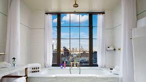 bowery hotel ny bathroom bathtub city view