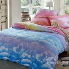 61 lovely clouds and blue sky patterns cotton 4 piece bedding sets duvet cover