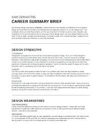 Resume Career Summary Cool Professional Summary For A Resume Resume Career Summary Examples