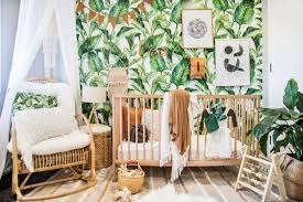 nursery baby room tropical nursery