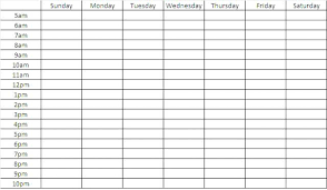 time chart template printable schedule calendar download blank weekly template doc free