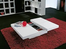 living white coffee table with storage
