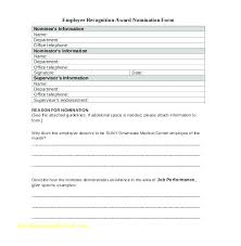 Employee Of The Month Template With Photo Employee Of The Month Awards Award Nomination Form Template Free