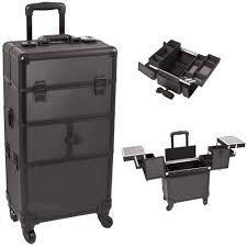 silver diamond interchangeable e series rolling makeup cases