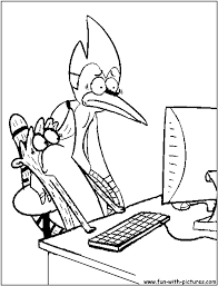 Regular Show Coloring Pages Free Printable Colouring Pages For