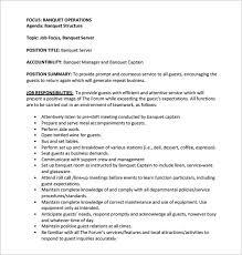 Banquet Job Description - East.keywesthideaways.co