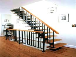 Metal railing stairs Beautiful Stair Handrail Ideas Metal Railings Interior Stair Railing Kits In Handrails For Stairs Decorations Deck Pinterest Stair Handrail Ideas Metal Railings Interior Stair Railing Kits In