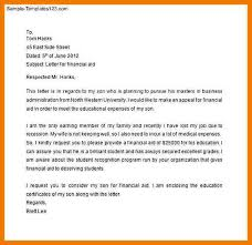application for financial assistance letter financial aid request letter sample appeal letter for financial aid