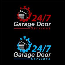 elegant playful business logo design for 24 7 garage door services in australia design 10891977