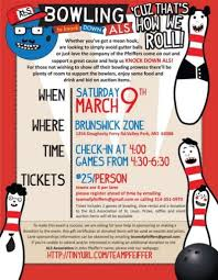 Bowling Fundraiser Flyer Template Bowling Fundraising School