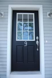 simple and neat black front door with glass for your house decoration design amazing white