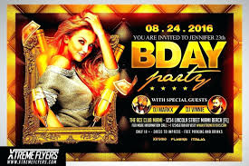 Birthday Flyers Free Birthday Bash Flyer Templates Sunraysheet Co
