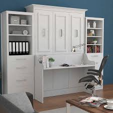 white murphy bed throughout room porter full portrait wall with desk and two side prepare 16
