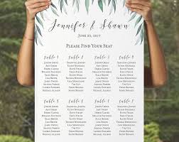 Personalized Seating Chart Personalized Wedding Seating Chart Table Romantic Garden