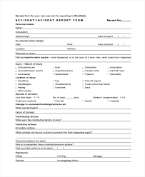 Sample Incident Report Template Project Report Format Template