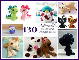 Crochet Animal Patterns Awesome Free Crochet Animal Patterns How Adorable Are These Craft