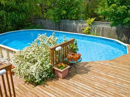 above ground pools with decks oval pool wooden deck | Pools- onground, semi  inground and above ground | Pinterest | Wooden decks, Ground pools and  Decking
