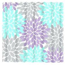 purple flower shower curtain aqua gray shower curtain lavender flower burst custom monogram personalized bathroom d purple flower shower curtain hooks