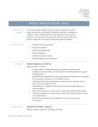 Fair Product Manager Resume Samples For Product Development Manager ...