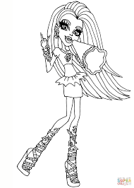 Ghoul Spirit Venus coloring page | Free Printable Coloring Pages