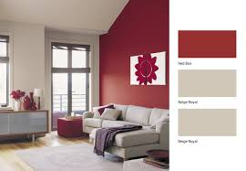 painting your living room red. give your living room a revamp with this beige and red combination #dulux # paint painting