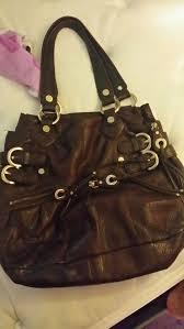 b makowsky leather handbag purse