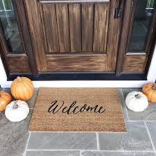 Welcome Mat / Doormat, Door Mat, Gift // WM05A by LoRustique on Etsy ...