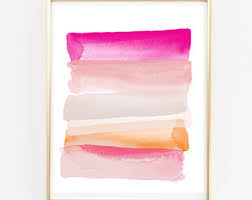 prints for office walls. Pink Orange Colorful Art Print Sale - Stylish Wall Gallery Prints For Office Walls