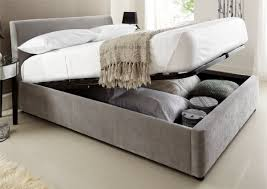 Serenity Steel Grey 4 Serenity Upholstered Ottoman Storage Steel Grey Double  Beds bed Double Beds With