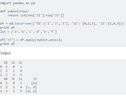 in python for data manition