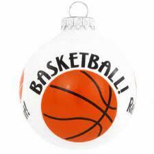 Basketball Rebound, Score, Dribble, Shoot Glass Ornament
