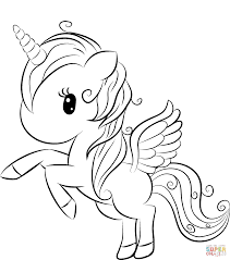 Chibi kids riding unicorns coloring page. Cute Unicorn Coloring Page Free Printable Coloring Pages Unicorn Coloring Pages Animal Coloring Pages Cute Coloring Pages