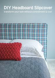 how to make a headboard slipcover with no sew piping or welting