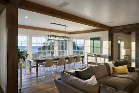 marvelous interesting linear chandelier dining room hinkley lighting dining room beach with exposed beams farmhouse